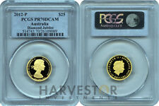 2012 DIAMOND JUBILEE GOLD PROOF COIN - PERTH MINT - PCGS PR70 DCAM - POP 12