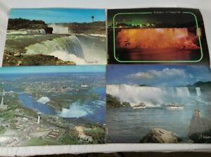Vintage Rare Niagara Falls Reversible Table Place Mat Set of 4 Unique Photos