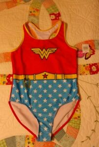 DC Comics Wonder Woman Child's Size 14 One Piece Bathing Suit NEW Free Ship!