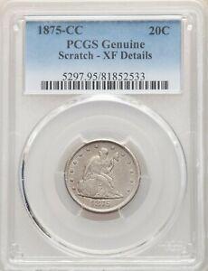 1875-CC PCGS XF Details 20C Better Date Twenty Cent Piece LowMintage 133,290