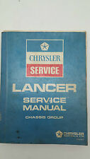 Chrysler Colt Mitsubishi Lancer A71 A72 Factory Service and Repair Manual