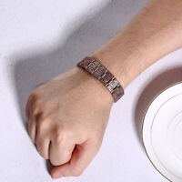 Mens Copper Bracelet Magnetic Therapy Arthritis Pain Relief Pure Copper Bangle