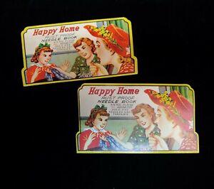 Vintage Needle Books Advertising, Happy Home, Staub Sales Winona Lake - Japan