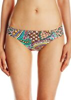 Trina Turk 145728 Womens Paisley Shirred Side Hipster Bikini Bottom Multi Size 4