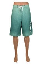 Hurley Men Shorts Casual 38 Green Polyester