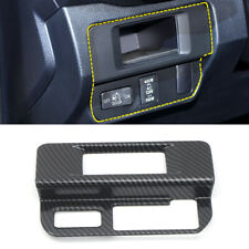Carbon Fiber Black Head Light Switch Button Cover For Toyota Tacoma 2016-2019