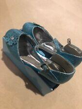 UK Child Kids Girls Shoes  size 3 like Frozen Elsa Blue Princess Party Shoes
