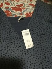 Abercrombie & Fitch Gorgeous Blue Dress with Short Sleeves (size Large) NWT NEW
