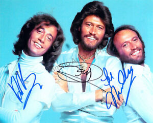 Bee Gees - Signed Photograph Signed by All 3