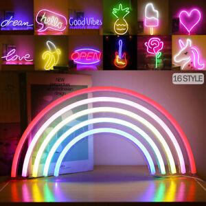 Neon Sign Light Large LED Wall Lamps USB for Bbay Kids Room Gift Home Art Bar UK