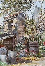 Marie Desire BOURGOUIN, Puit, dessin, aquarelle, jardin, impressionnisme, France