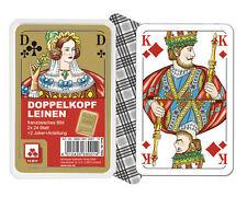 Doppelkopf Premium Leinen französisches Bild Doppelkopfkarten 2x24 Blatt 7004