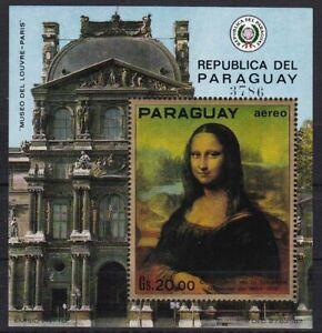 Paraguay Block 161 postfr./mnh Gemälde paintings  Mona Lisa