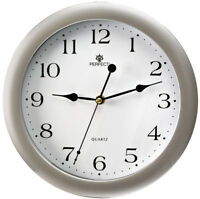 Round Wall Clock - PERFECT - Silent Sweep , Silver Case