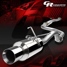 "4.5"" MUFFLER ROLLED TIP CATBACK RACE EXHAUST SYSTEM FOR 92-00 HONDA CIVIC 2/4DR"