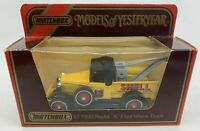 1986 Matchbox Models of Yesteryear Y7 1930 Model A Ford Wreck Truck YELLOW SHELL