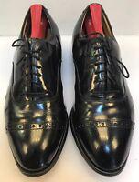 Johnston & Murphy Men 7.5 E / C Cap Toe Oxfords Comfort Craft Black Leather USA