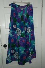 Vintage Handmade Palazzo Pants Purple Flower Print Small Size Good Condition