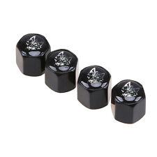 4x Universal Wolf Pattern Style Car Truck Air Valve Stem Caps Wheel Dust Cover