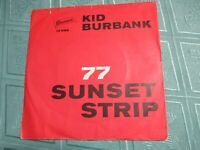 "KID BURBANK (7"" SINGLE) 77 SUNSET STRIP [1963 BRUNSWICK **HELMUT ZACHARIAS,RAR]"