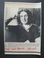 AP Wire Press Photo 1985 Canadian Author Margaret Atwood Acceptance in US