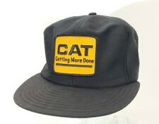 Vintage CAT Getting More Done Trucker Patch Hat Louisville MFG Co Snapback A19