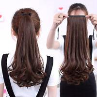 48cm Brazilian Hair Long Curly Cosplay Costume Ponytail Hair Wigs Hair Wavy Wig