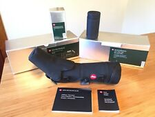 Leica Televid 65 Angled with Leica Zoom Eyepiece 25-50x and Ever ready case