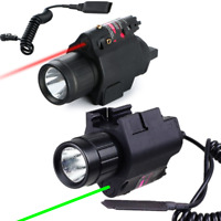 Combo Red/Green Laser Sight+LED Flashlight 20mm Picatinny Rail Mount For Hunting