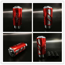 Cool Hollow out Universal Manual Car Red Gear Stick Shift Knob Shifter Lever