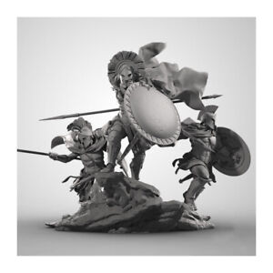 1/24 Resin Model Kit Hero of Sparta 3 Warriors W/Base Unassembled Unpainted F249