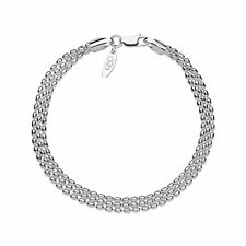 Links of London Sterling Silver Mini Oval 3Row Bracelet