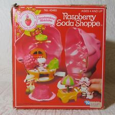 Vintage 1981 Strawberry Shortcake RASPBERRY SODA SHOPPE Miniature Playset w/box
