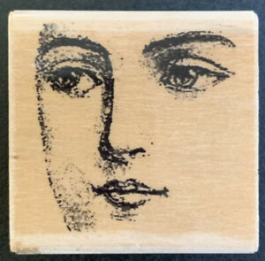 Rubber Stampede She Knows Female Face Rubber Stamp
