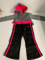NWT Girls Toddler Sketchers 3 Piece Outfit Shirt/hoodie/Joggers Size 3T New