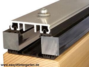 Verlegeprofile Klemmprofil Alu 2000mm für Terrassendach inkl. Dichtung für 60 mm