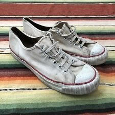 Vintage Sneakers Made In Usa 50s 60s Canvas Athletic Mens 8.5 Tennis Gym