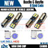 2x H6W White canbus Sidelight Reverse Bulbs 8smd SMD Error Free BAX9S BAY9S 3030