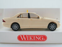 "Wiking 14911 Mercedes-Benz S-Klasse (1998) ""TAXI"" in creme 1:87/H0 NEU/OVP"
