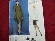 Vogue Sewing Pattern V9298 Para mujeres largo o corto mangas de Body Wrap