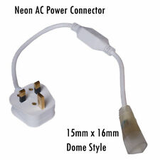 LED Flex Neon Tube Rope Light Accessories AC Power Adapter connecting pin Clip