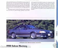 1988 Ford Mustang Saleen 5.0 Liter Info/Specs/photo 11x8