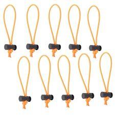 10x Multi-Purpose Toggle Tie/Elastic Cable Tie/Organizer f Cord & Cable (Orange)