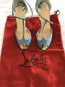 christian louboutin Senora T-strap Heels.