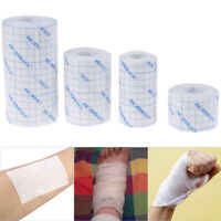 1Roll Waterproof Adhesive Wound Dressing Medical Fixation Tape Band DD