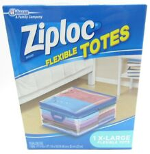 Ziploc Flexible Extra Large Clothes Storage Bag 10 Gallon Size W/ Zippers -H8