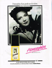 PUBLICITE ADVERTISING 035  1990  ATHMOSPHERE  eau de toilette ARLETTY