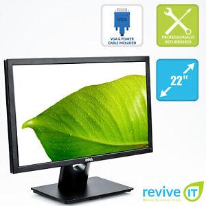"Dell E2216H 22"" Widescreen 1920x1080 16:9 Full HD LED LCD Monitor VGA DP Grade A"