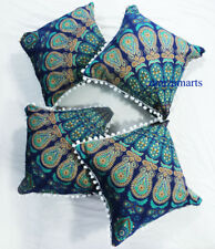 "16"" Mandala 4 Pcs Decorative Sofa Pillow Cover Set Cushion Covers Hippie"
