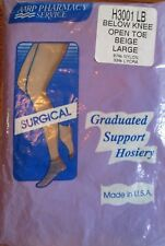 Womens Graduated Support Stockings Size L Below Knee Compression Supports USA